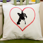 Boston Terrier, Boston, pillow cover, muslin