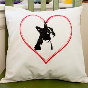 Boston Terrier, Boston, pillow cover, muslin